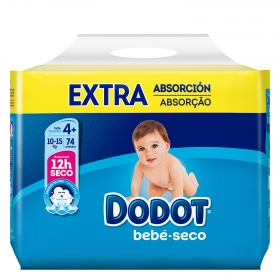 Pañales Dodot extra absorción T4+ (10kg-15kg.) 74 ud.