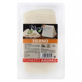 Queso tierno en lonchas Miraflores 300 g.