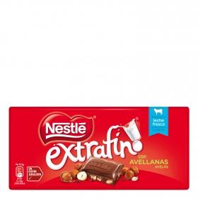 Chocolate con avellanas extrafino Nestlé sin gluten 123 g.