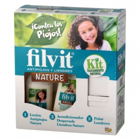Kit Tratamiento natural antipiojos y liendres