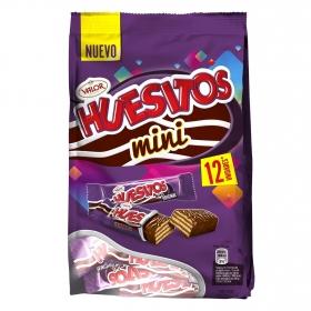 Mini barrita de barquillo cubierta de chocolate Huesitos Valor 12 ud.