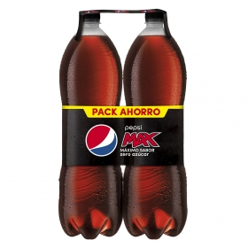 Refresco de cola Pepsi Max zero pack de 2 botellas de 2 l.