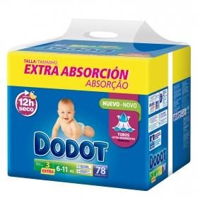 Pañal extra absorción T3 Extra (6-11 kg)