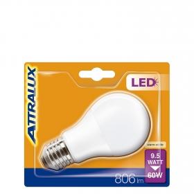Bombilla LED Estándar  Mate Cálida 9,5W = 60W E27 Attralux