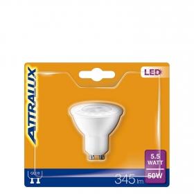 Bombilla  LED Dicroica Cálida 5,5 W = 50W GU10 Attralux