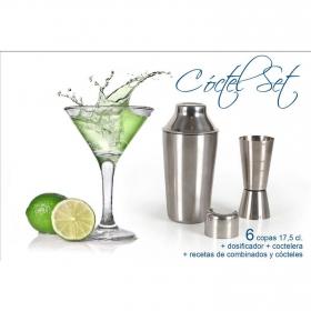 Set Cristaleria de Combinado Coctel 8pz Transparente