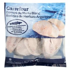 Rodajas de merluza argentina Carrefour 600 g.