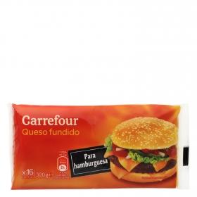 Queso fundido para hamburguesa Carrefour 300 g.