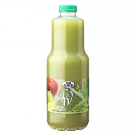 Zumo de frutas vegetales manzana, guisantes y aloe