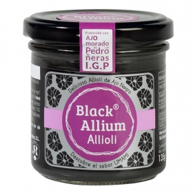 Salsa alioli con ajo negro Black Allium 135 g.
