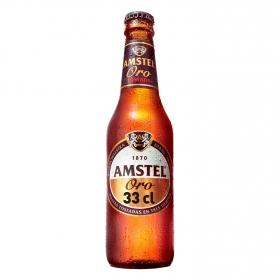 Cerveza Amstel Oro tostada botella 33 cl.