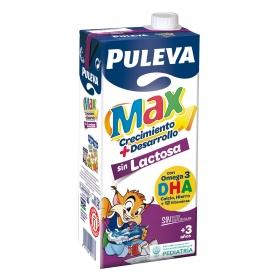 Bebida láctea Puleva Max crecimiento y desarrollo sin gluten sin lactosa brik 1 l.
