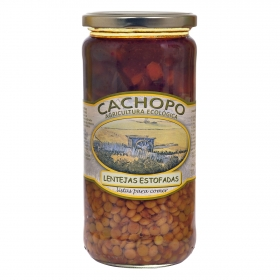 Lentejas estofadas ecológico Cachopo 720 g.