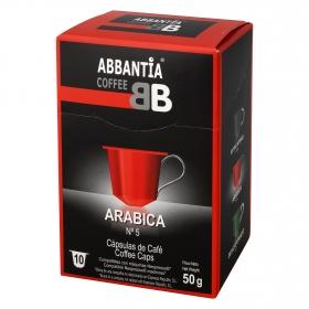 Café Arábica en cápsulas compatible con Nespresso