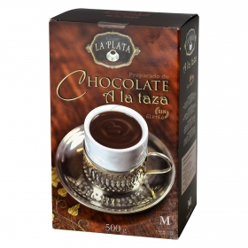Chocolate a la taza en polvo La Plata sin gluten 500 g.