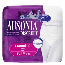 Pants para pérdidas de orina Talla M plus Ausonia Discreet 9 ud.