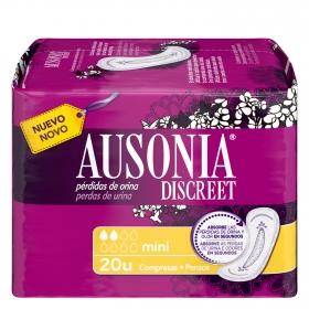 Compresas para pérdidas de orina mini Ausonia Discreet 20 ud.