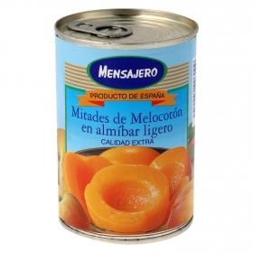 Mitades de melocotón en almíbar ligero Mensajero 240 g.