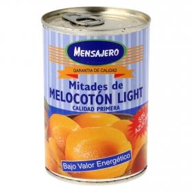 Mitades de melocotón en almíbar sin azúcar Mensajero 240 g.