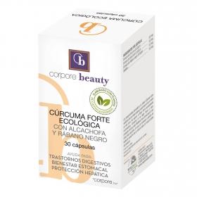 Cúrcuma con alcachofa y rábano negro ecológica Corpore Beauty 30 cápsulas