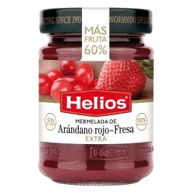 Mermelada de arándano rojo y fresa categoría extra Helios sin gluten 340 g.