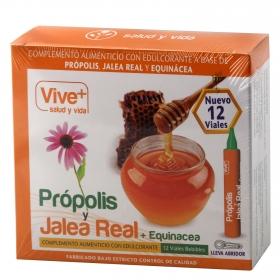 Complemento alimenticio Própolis, jalea real y equinacea Vive Plus 12 viales