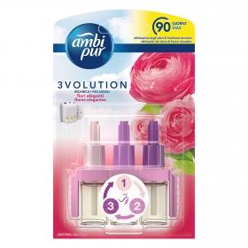 Ambientador eléctrico 3Volution Delicadas Flores Rosas recambio Ambipur 1 ud.