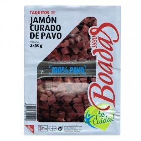 Taquitos de jamón curado pavo