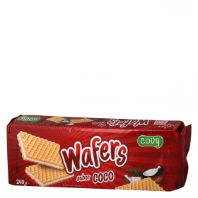 Galletas de barquillo sabor coco Wafers 240 g.