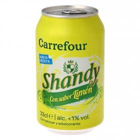 Cerveza Carrefour Shandy con limón lata 33 cl.