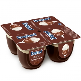 Natillas doble placer chocolate con nata