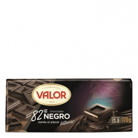 Chocolate negro 82% Valor sin gluten 170 g.