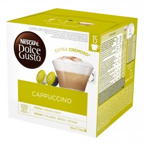 Café cappuccino en cápsulas Nescafé Dolce Gusto 15 unidades de 25 g.