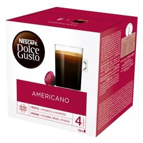 Café americano en cápsulas Nescafé Dolce Gusto 16 unidades de 10 g.