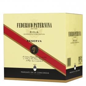 Caja de vino D.O. Rioja tinto reserva Federico Paternina pack de 12 botellas de 75 cl.