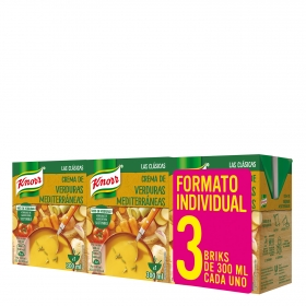 Crema de verduras mediterráneas Knorr pack de 3 unidades de 300 ml.