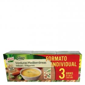 Crema de verduras mediterráneas