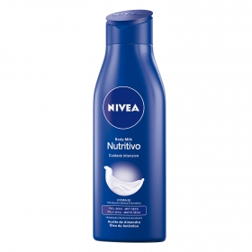 Body milk nutritivo para piel seca Nivea 75 ml.