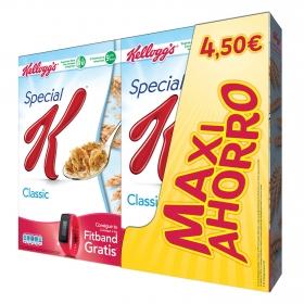 Cereales integrales de arroz y trigo Special K Kellogg's pack de 2 unidades de 500 g.