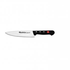 Cuchillo Cocinero de Acero inoxidable QUTTIN Classic 20 cm. - Negro
