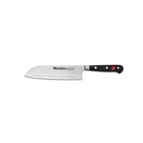 Cuchillo Santoku de Acero inoxidable QUTTIN Safrane 18 cm. - Negro