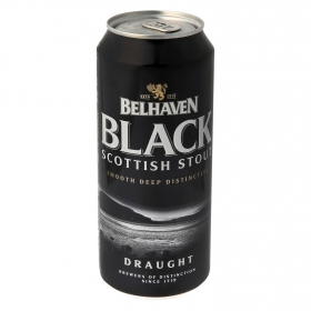 Cerveza Belhaven Black Scottish Stout negra lata 44 cl.