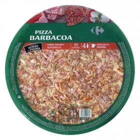 Pizza maxi barbacoa Carrefour 580 g.