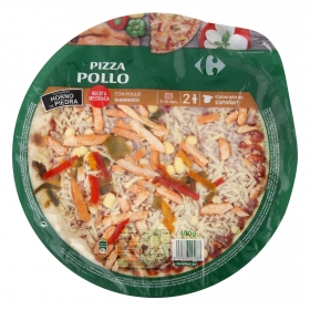 Pizza de pollo Carrefour 400 g.