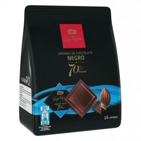 Láminas de chocolate negro 70% Nestlé Caja Roja 16 ud.