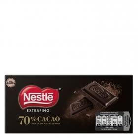Chocolate negro extrafino 70% Nestlé sin gluten 120 g.
