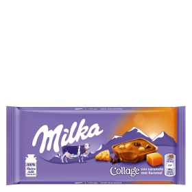 Chocolate collage caramelo Milka 93 g.