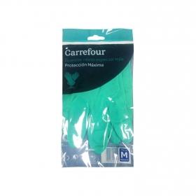 2 Guantes especial lejía de Nitrilo Carrefour  M - Verde