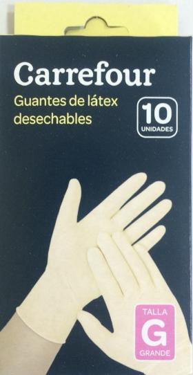 Guantes látex desechables con polvo Talla Grande