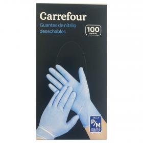 Guantes nitrilo desechables sin polvo Talla Pequeña/Mediana
